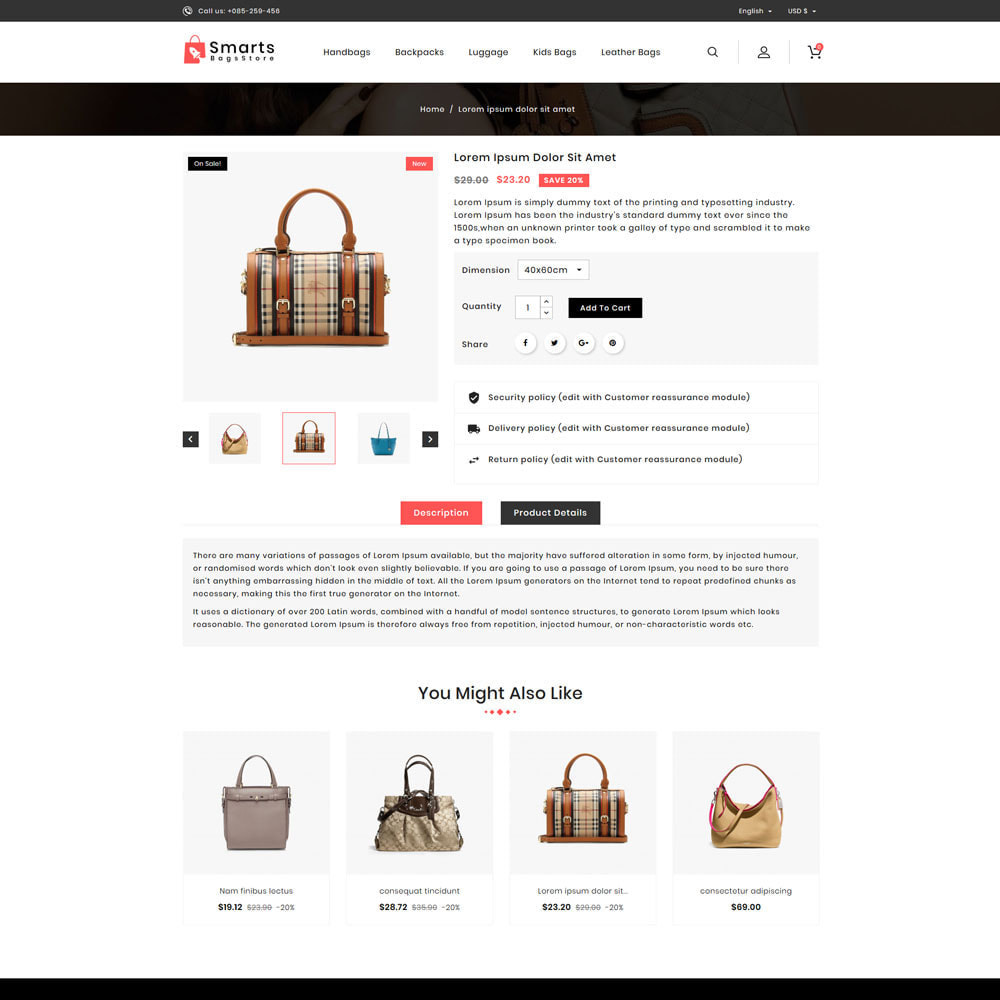 theme - Fashion & Shoes - Smart Bag's Shop - 4