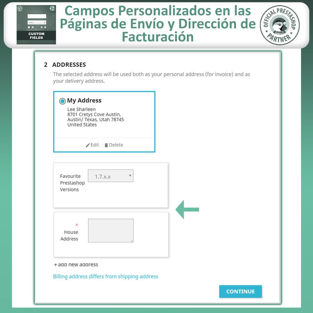 module - Inscripción y Proceso del pedido - Custom Checkout Fields - Campo de Pedido Personalizado - 5
