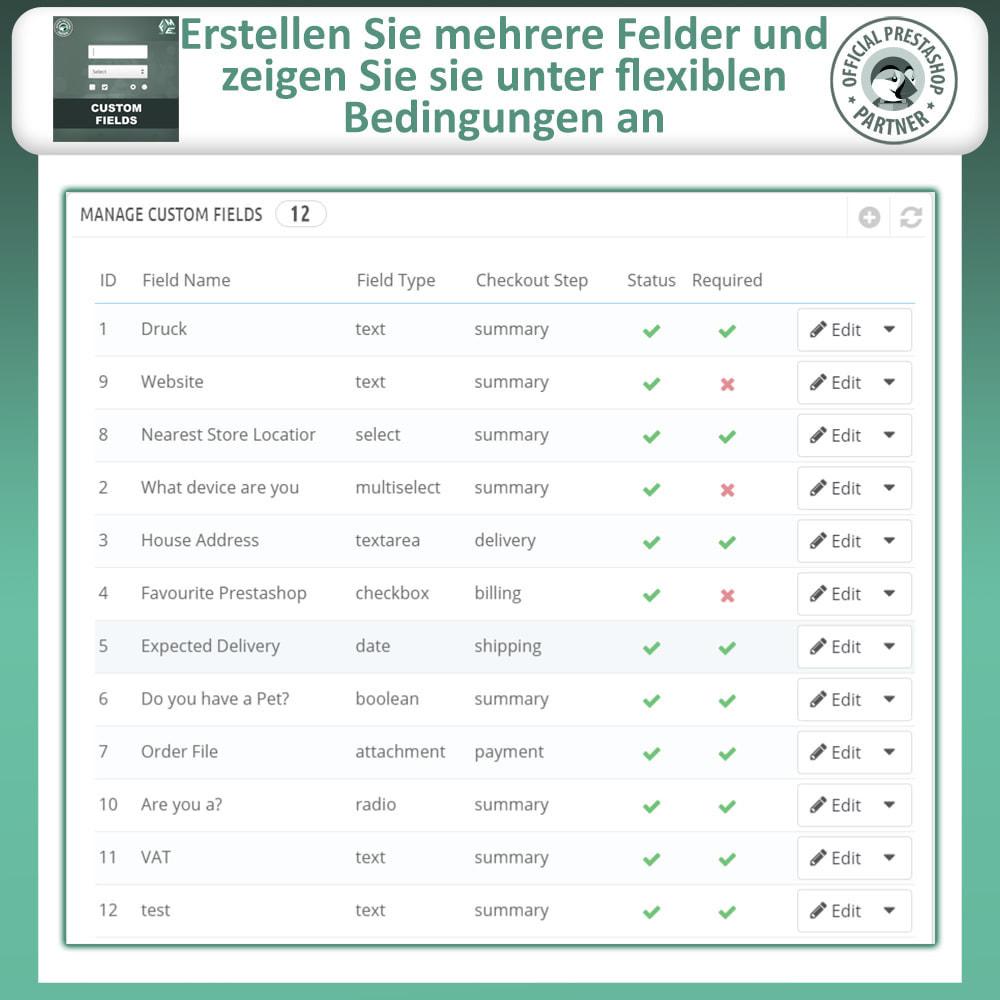 module - Anmeldung und Bestellvorgang - Benutzerdefinierte Felder, Fügen Sie Feld zur Checkout - 9