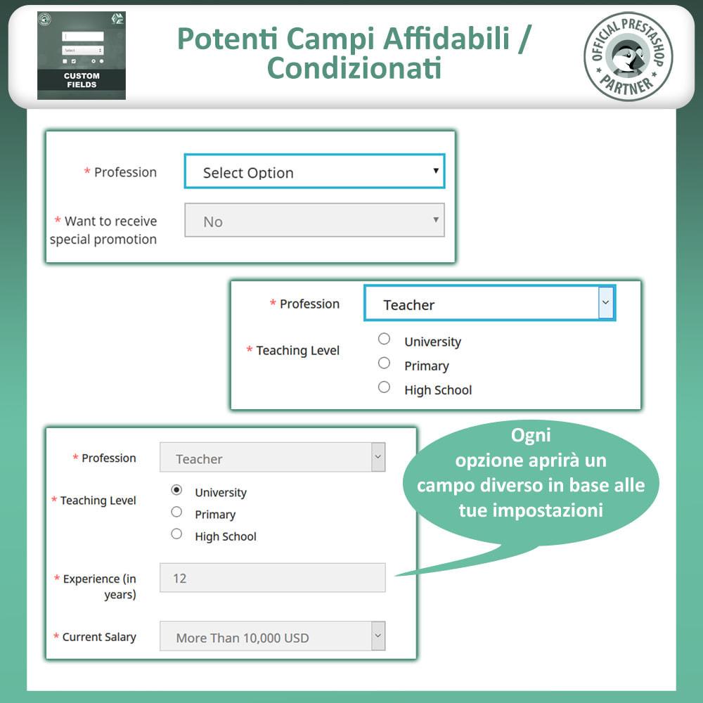 module - Iscrizione e Processo di ordinazione - Campi Personalizzati,  Aggiungi Campo alla di Checkout - 8