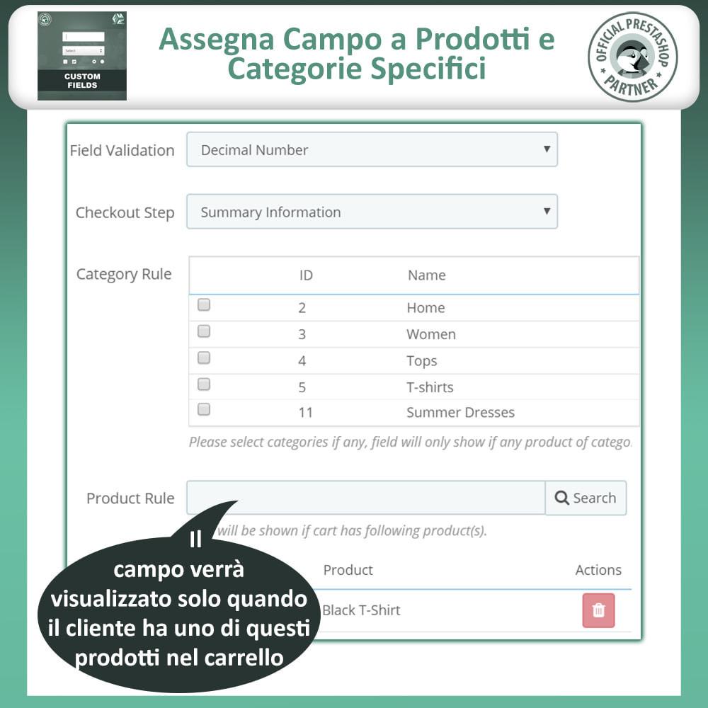 module - Iscrizione e Processo di ordinazione - Campi Personalizzati,  Aggiungi Campo alla di Checkout - 11