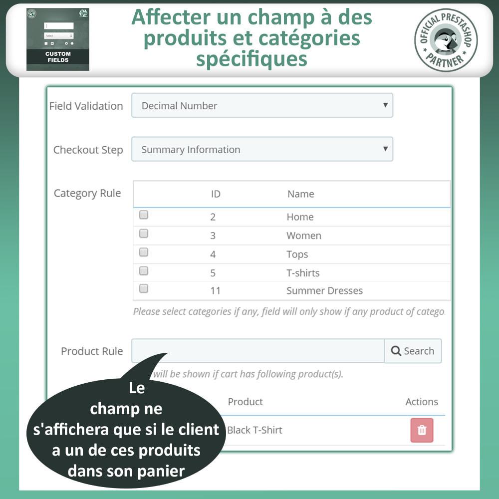 module - Inscription & Processus de commande - Champs paiement personnalisés, Ajouter des champs - 11