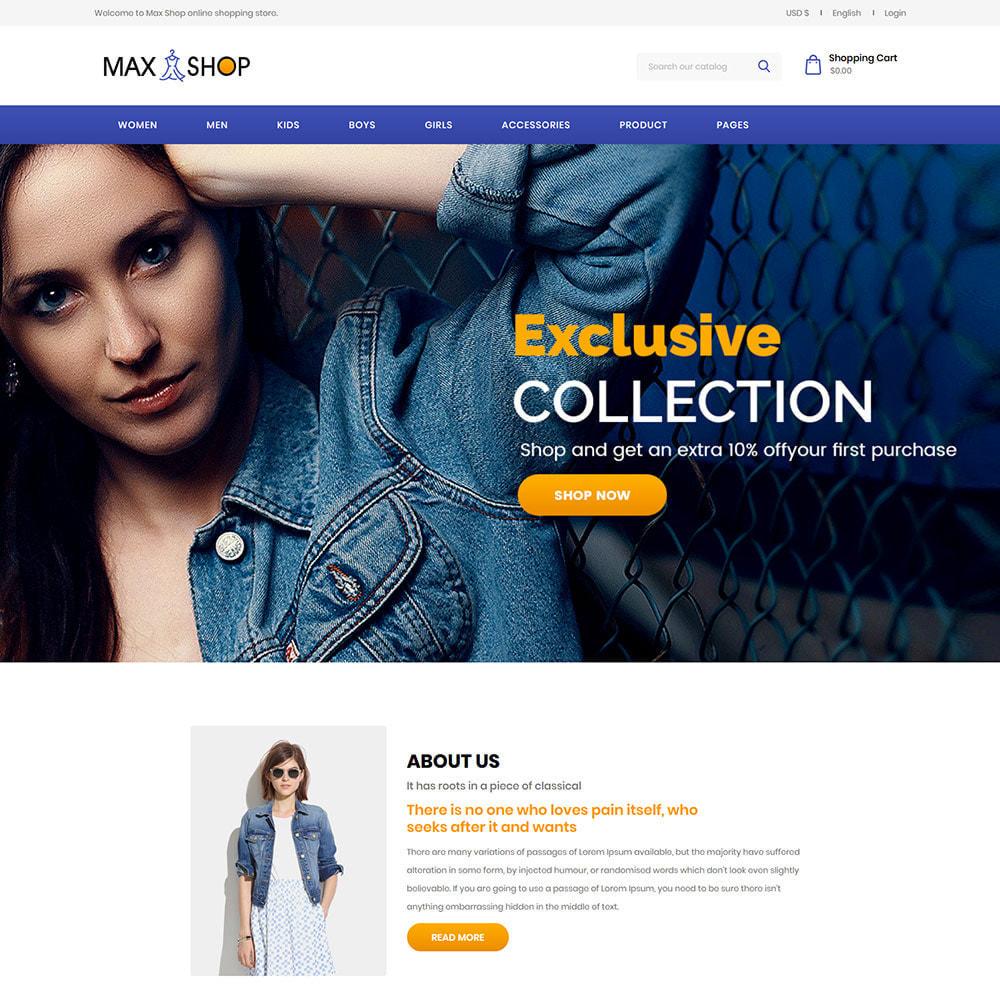 theme - Fashion & Shoes - Max Shop  - Fashion Dress Women Store - 2