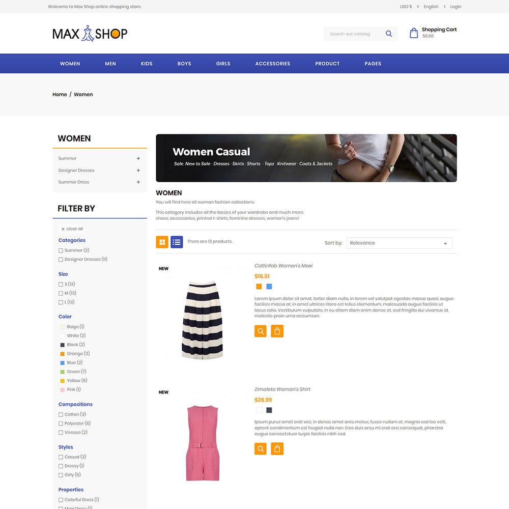 theme - Fashion & Shoes - Max Shop  - Fashion Dress Women Store - 4
