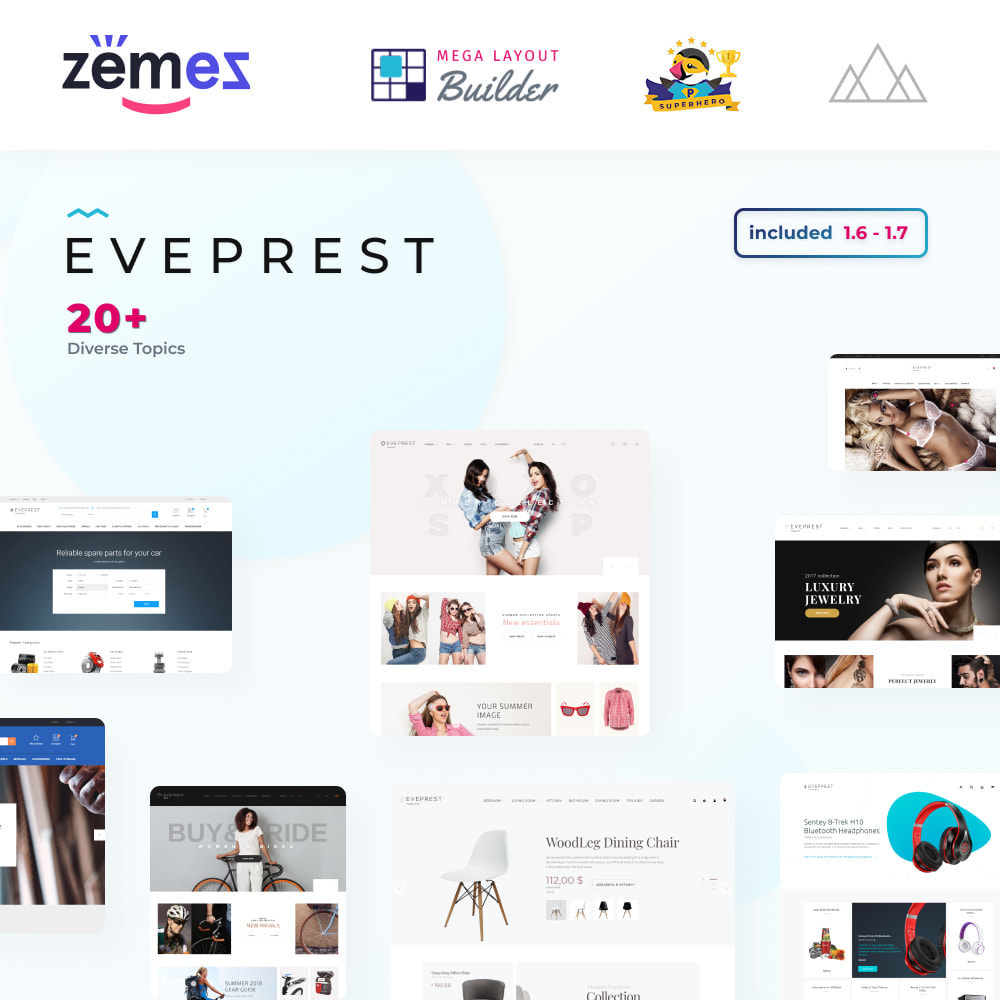 theme - Мода и обувь - Eveprest - Multipurpose Shop - 1