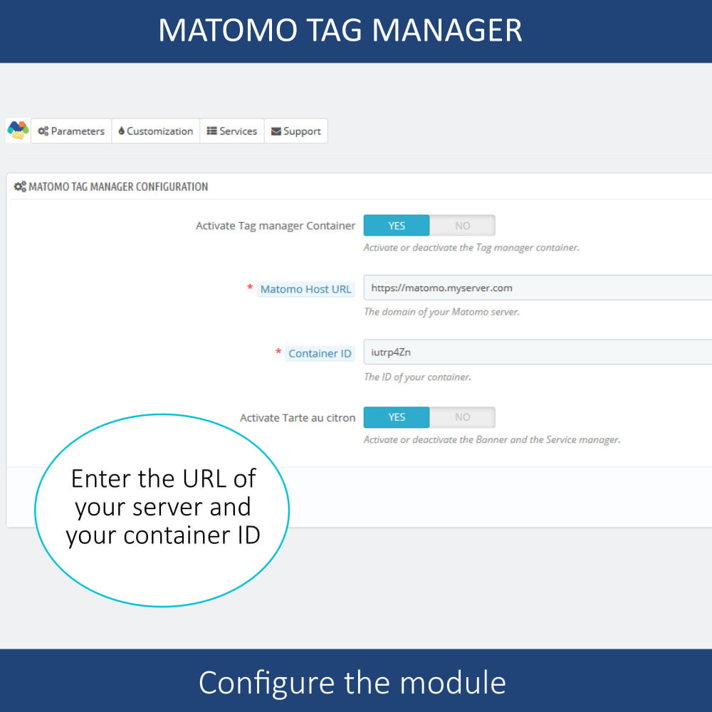 module - Администрация - Matomo tag manager + Cookie manager & banner (GDPR) - 5
