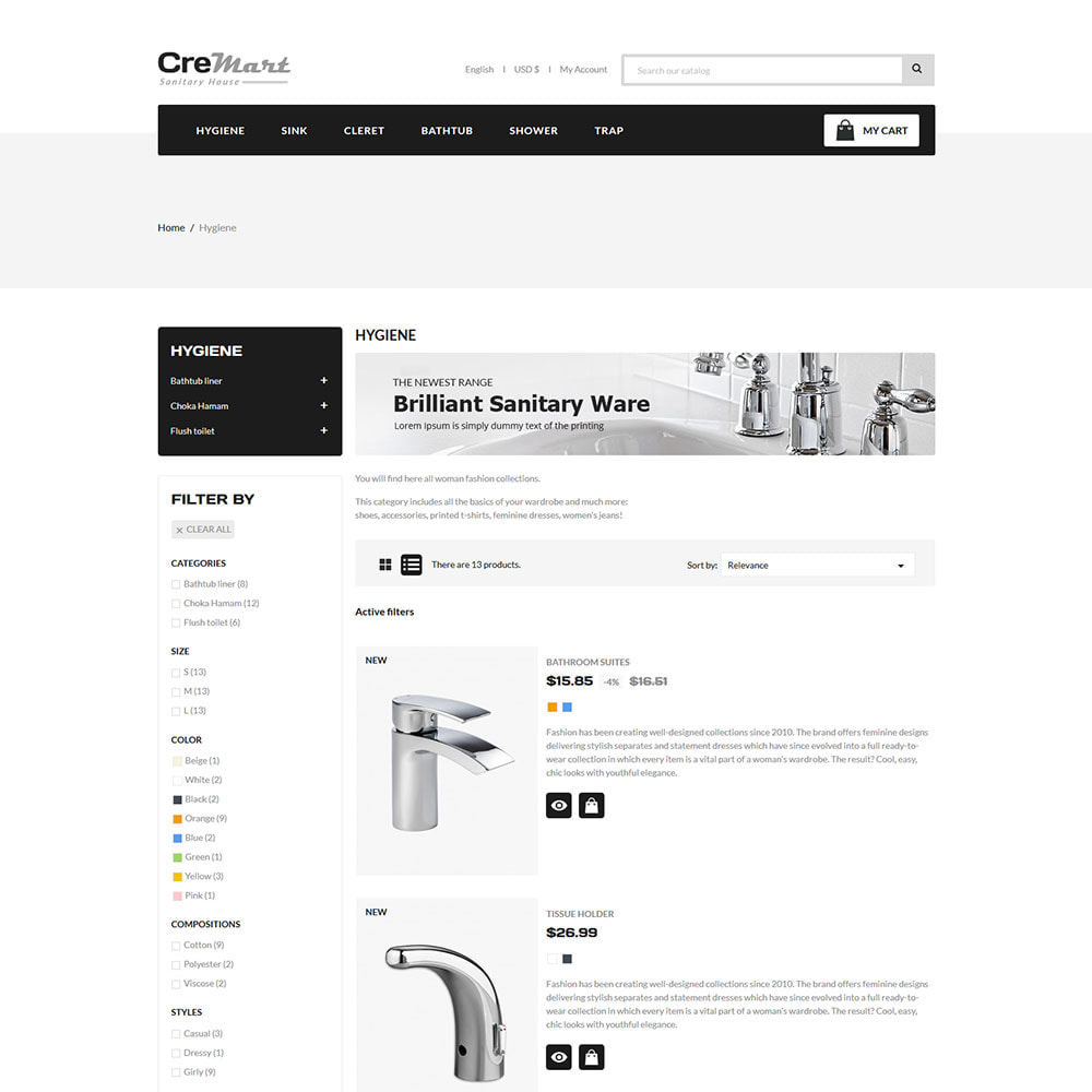 theme - Home & Garden - Cremart Sanitary - Sink Washbasin Store - 4