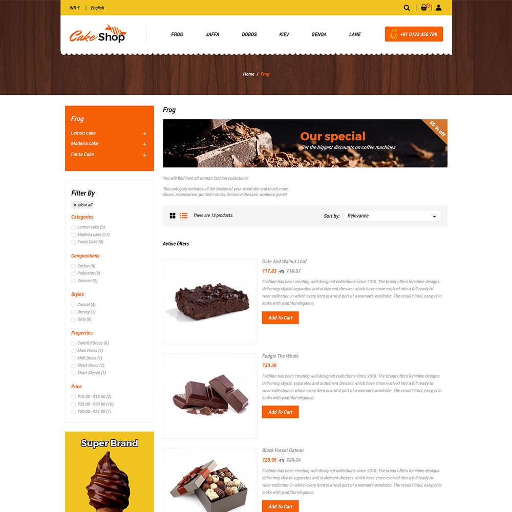 theme - Food & Restaurant - Cake  Food  - Bakery Sweet Food Store - 4