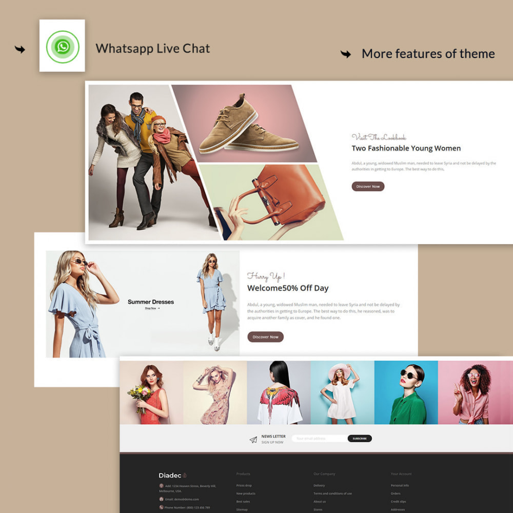 theme - Мода и обувь - Diadec- The Fashion eCommerce Store - 3