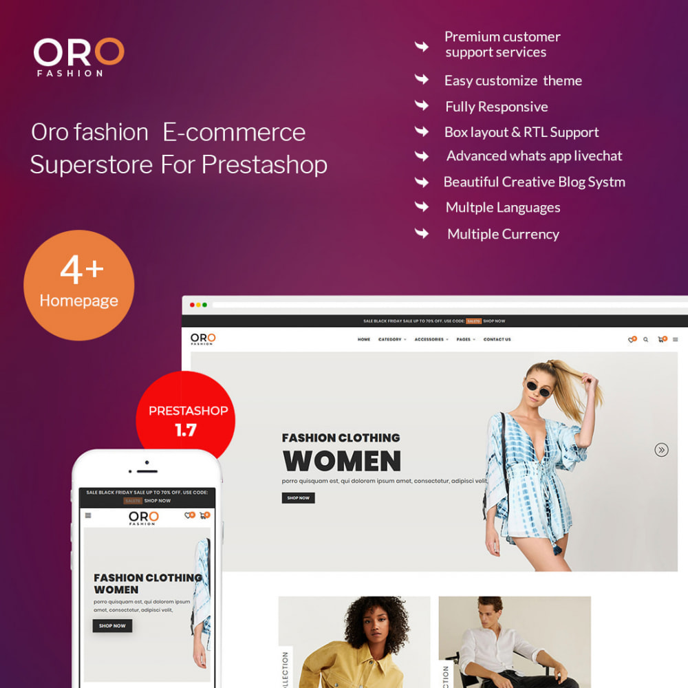 theme - Moda & Obuwie - Oro Fashion eCommerce Store - 1