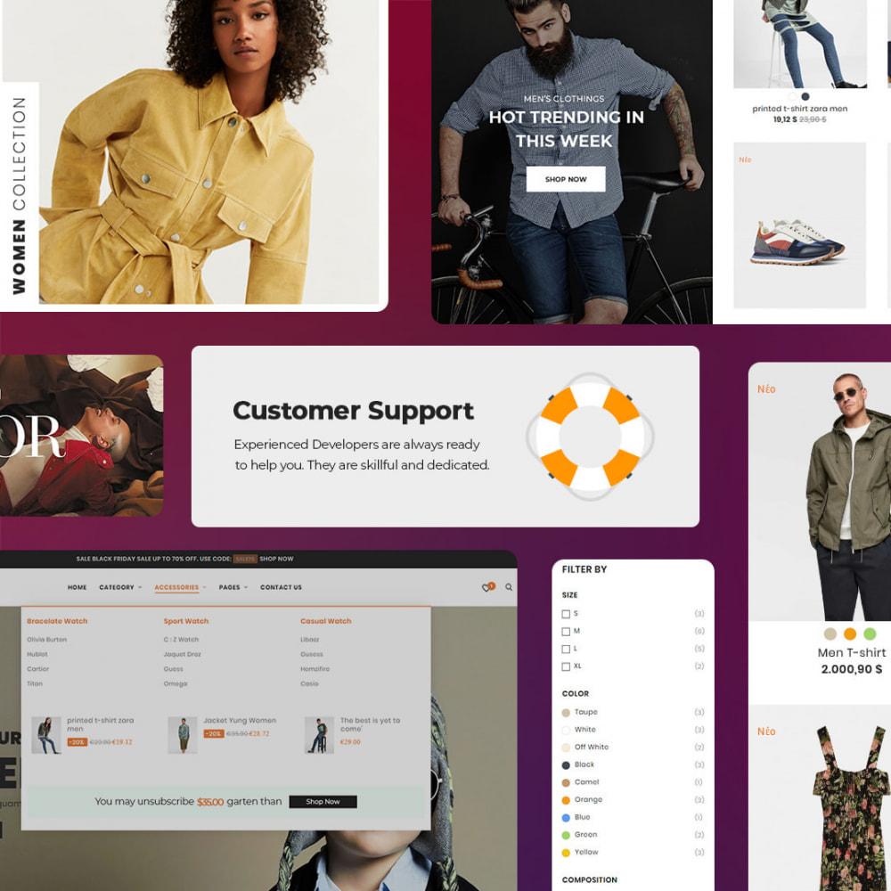theme - Moda y Calzado - Oro Fashion eCommerce Store - 5