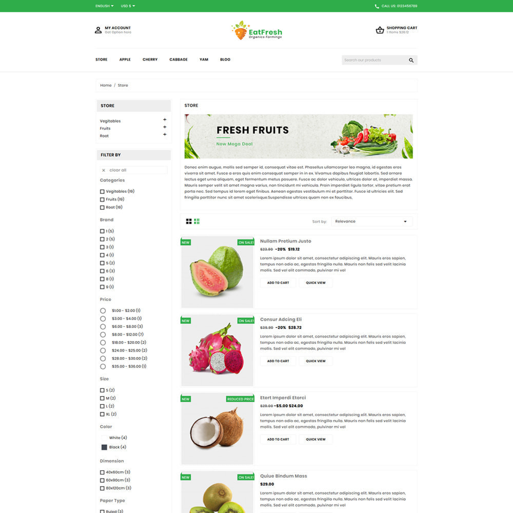 theme - Мода и обувь - EatFresh Vegetables & Fruits Shop - 4