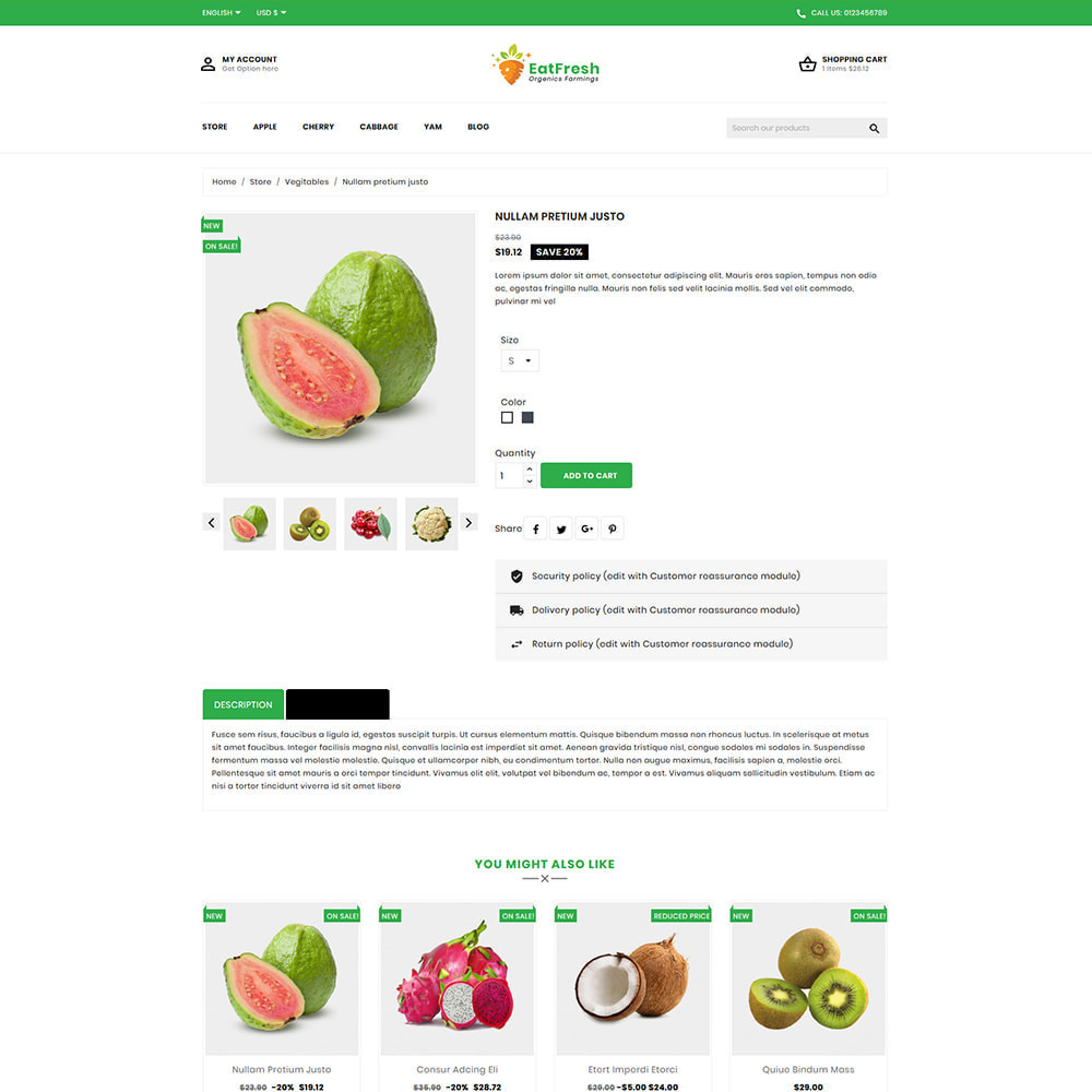 theme - Мода и обувь - EatFresh Vegetables & Fruits Shop - 5