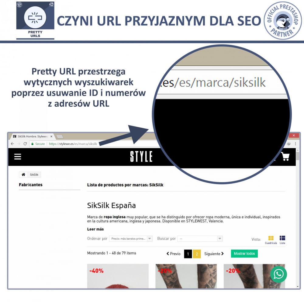 module - URL & Przekierowania - Pretty URL – Usuń ID i Numer z Adresu URL - 3