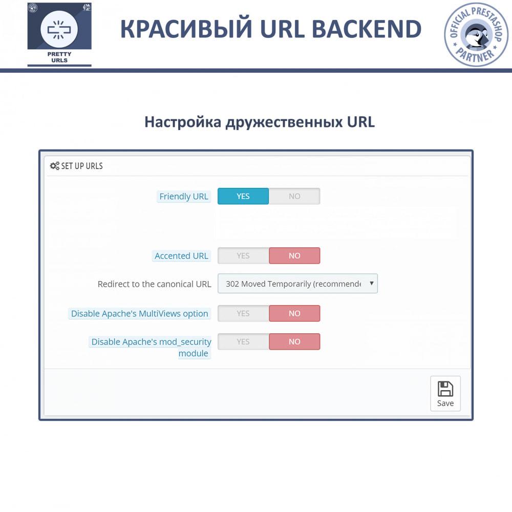 module - Управления адресами URL и перенаправлением - Pretty URL - удаление идентификаторов и номеров из URL - 6
