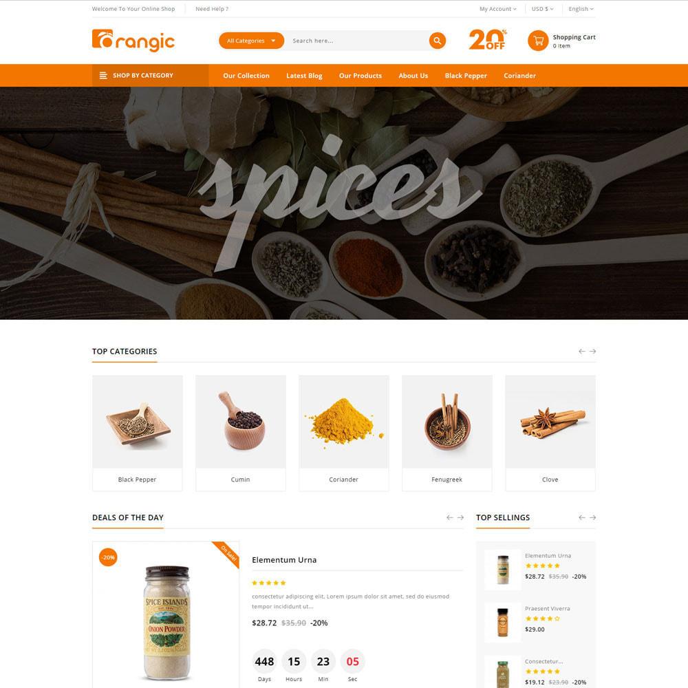 theme - Gastronomía y Restauración - Orangic - La tienda de alimentos - 5