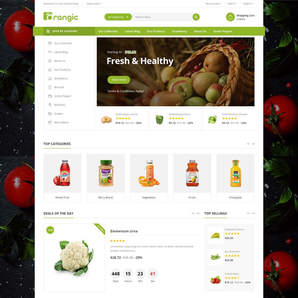 theme - Gastronomía y Restauración - Orangic - La tienda de alimentos - 6