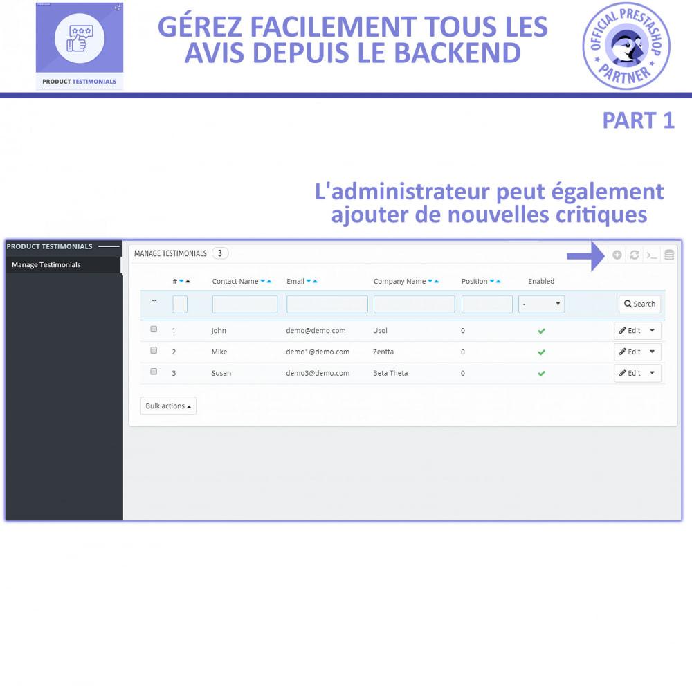 module - Avis clients - Revues de Produits + Témoignages de Magasins - 5