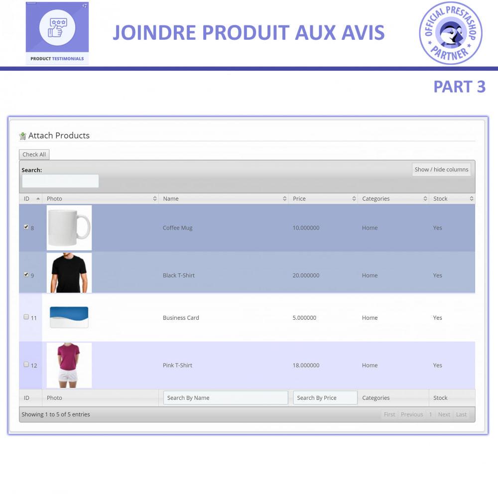 module - Avis clients - Revues de Produits + Témoignages de Magasins - 7