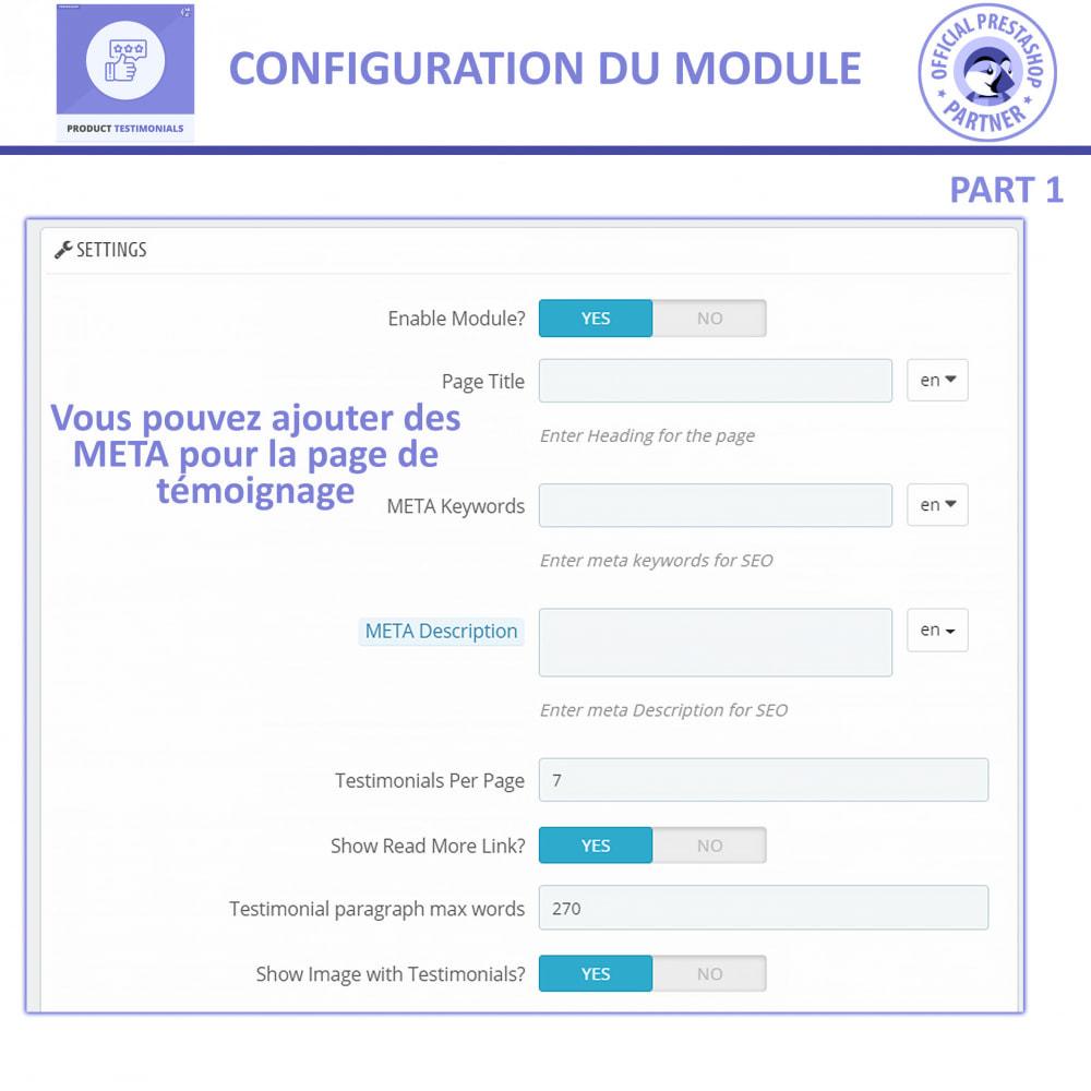module - Avis clients - Revues de Produits + Témoignages de Magasins - 8