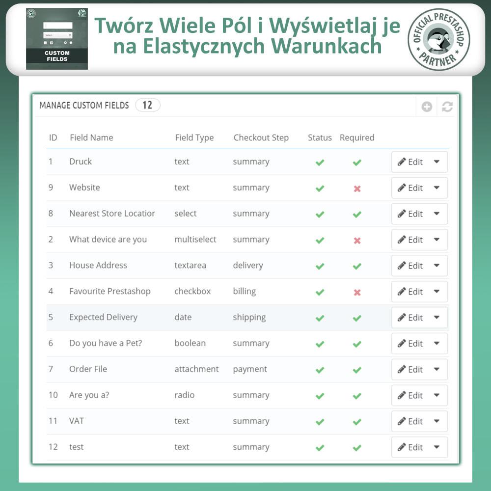 module - Procedury składania zamówień - Dodaj Dodatkowe Pole na Stronie Zamówienia (Checkout) - 9