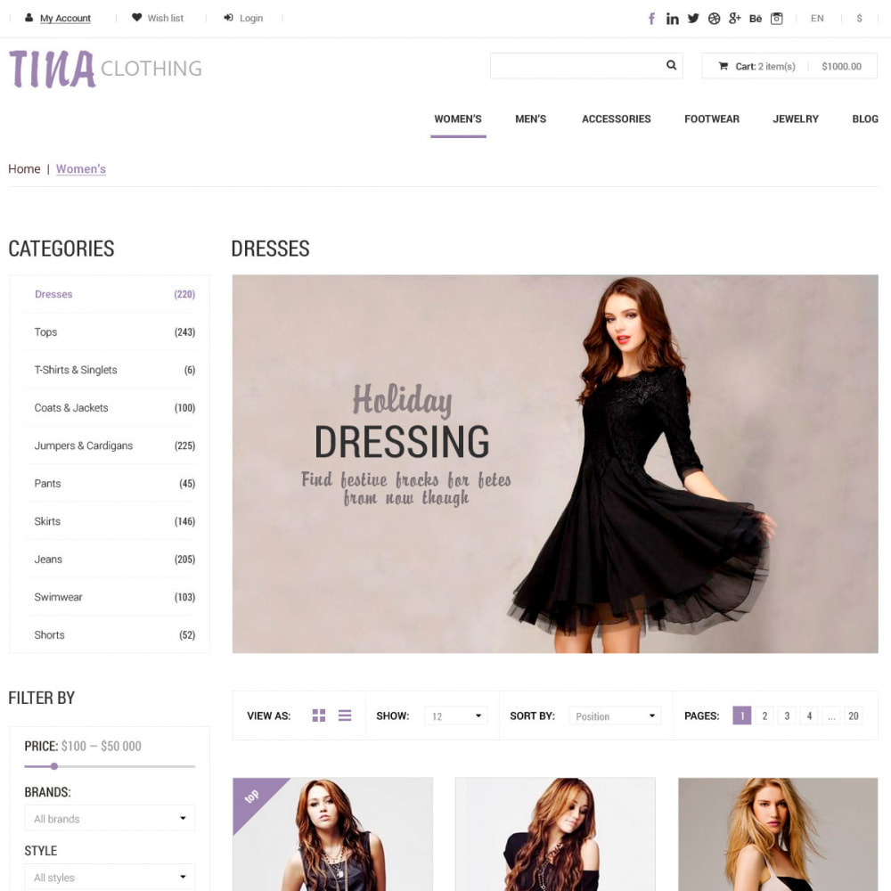 theme - Fashion & Shoes - Ali Clothing Store - 2