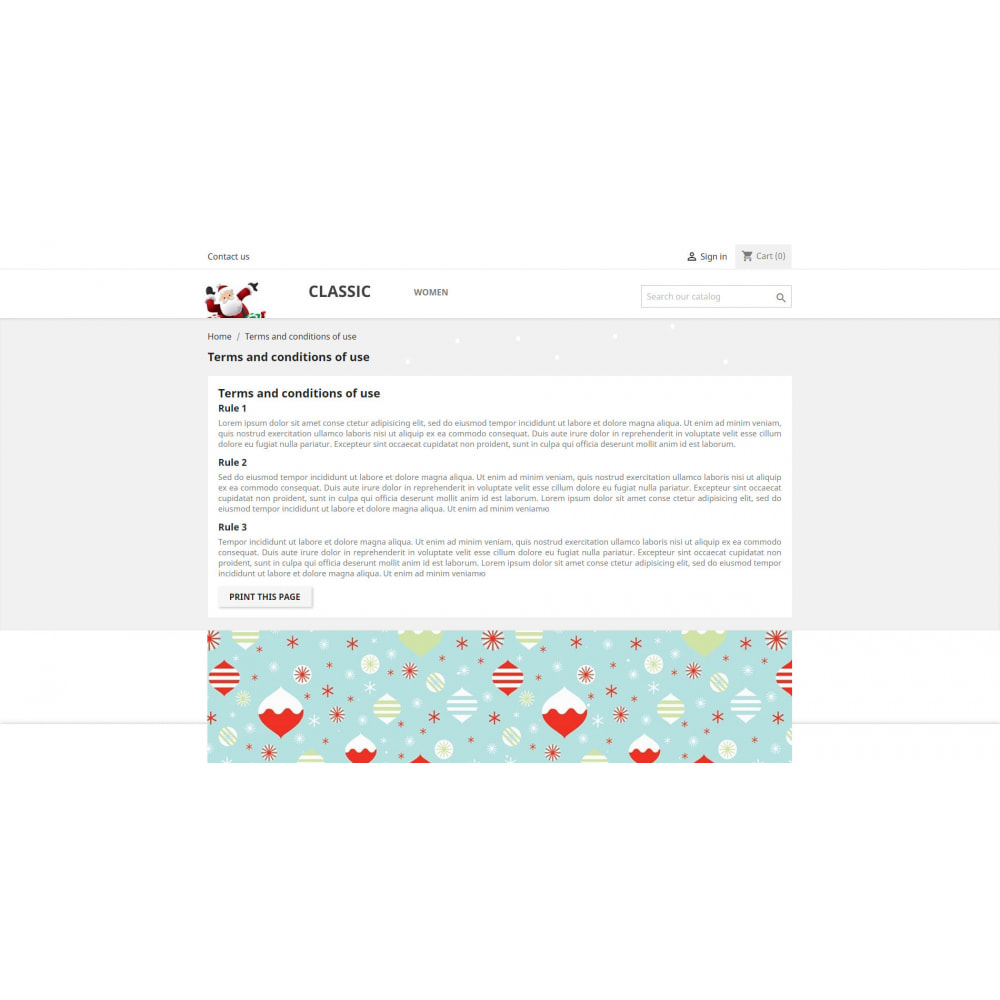 module - Page Customization - Merry Christmas - 1