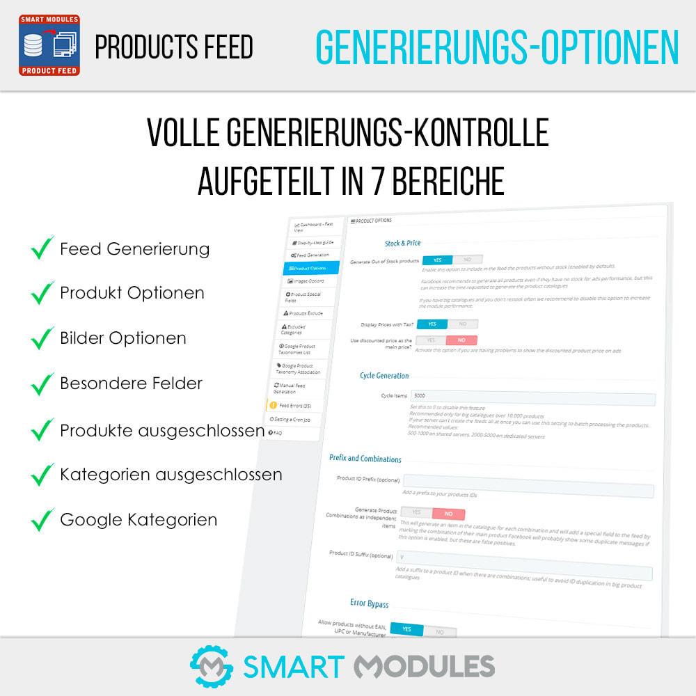 module - SEA SEM (Bezahlte Werbung) & Affiliate Plattformen - Produkte Feed für dynamische Werbungen & Tag & Shop - 4