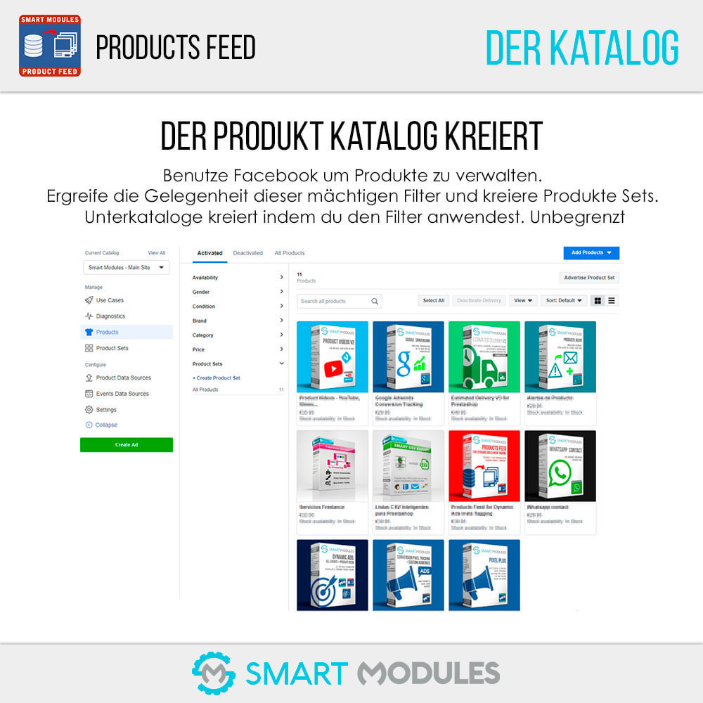 module - SEA SEM (Bezahlte Werbung) & Affiliate Plattformen - Produkte Feed für dynamische Werbungen & Tag & Shop - 7