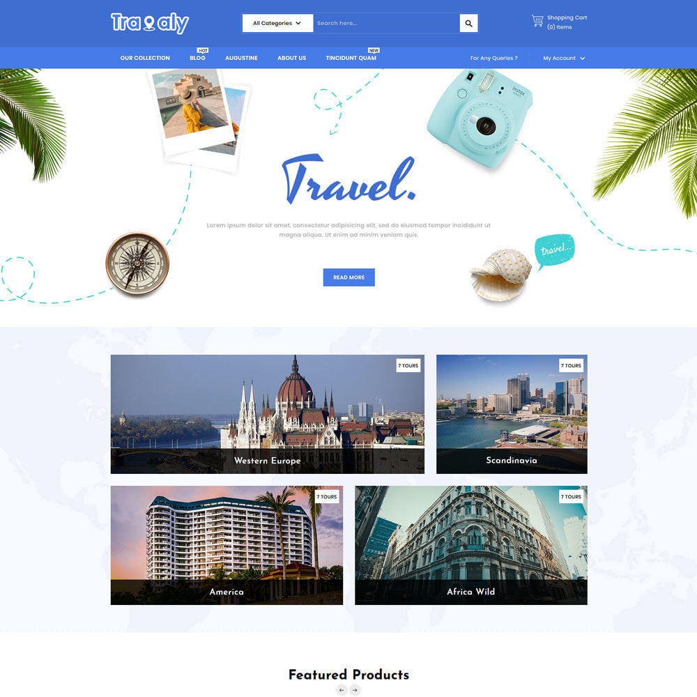 theme - Sports, Activities & Travel - Travaly  -The Tourism Store - 4