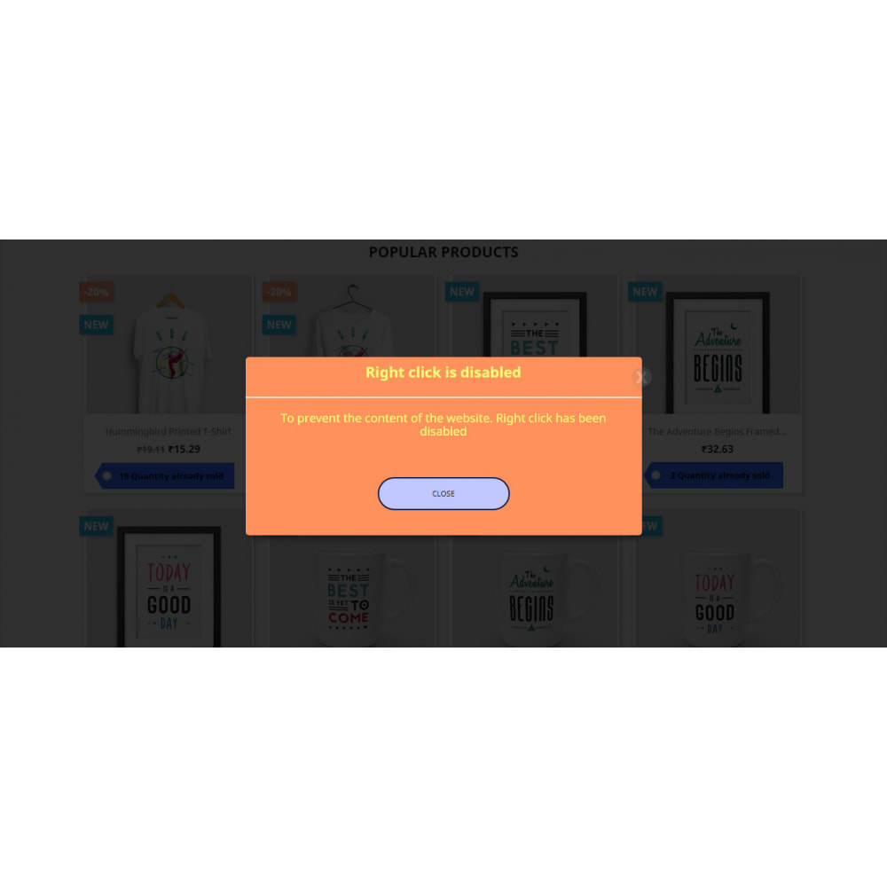 module - Security & Access - Protect Contents & Images And Disabled Right Click - 6