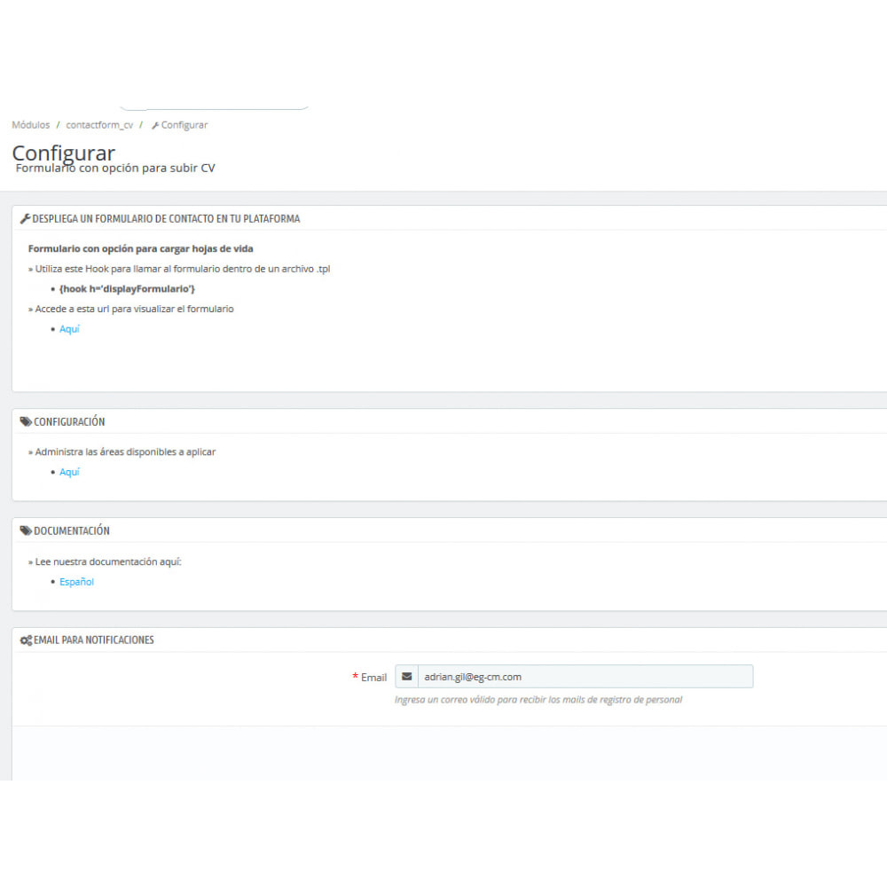 module - Contact Forms & Surveys - Contact Form CV - 3