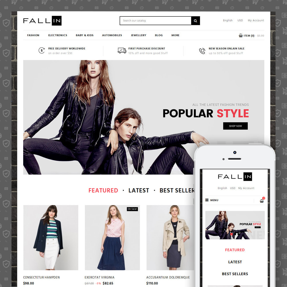 theme - Mode & Chaussures - Fallin - Apparel Store - 1