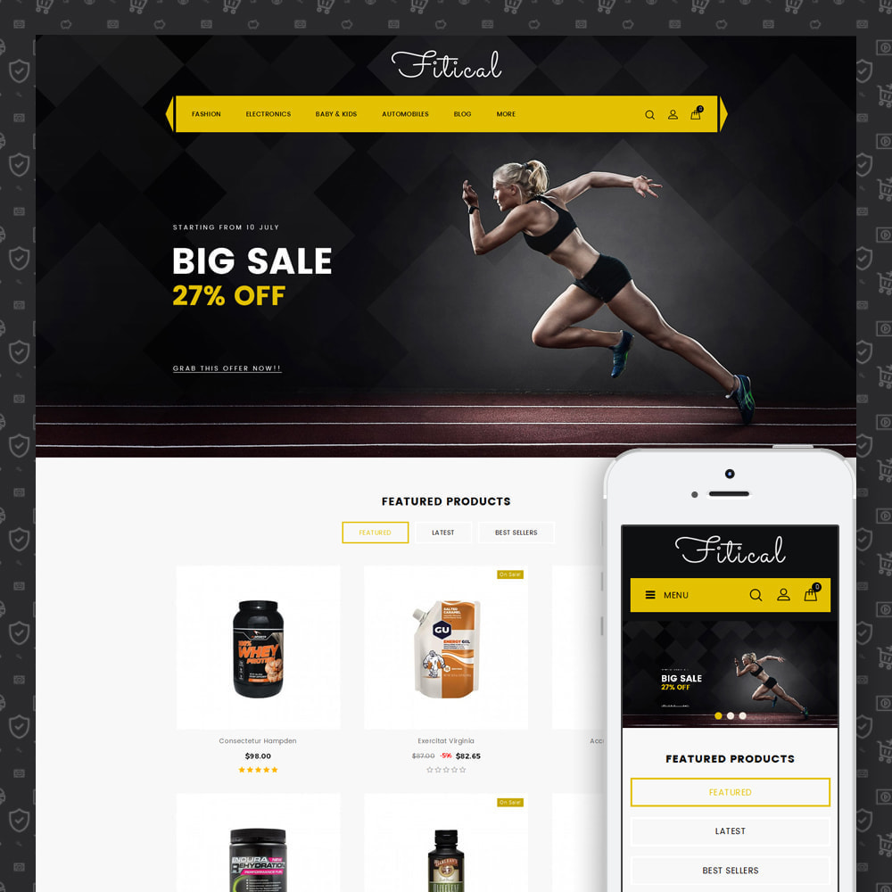 theme - Deportes, Actividades y Viajes - Fitical - Fitness Store - 1