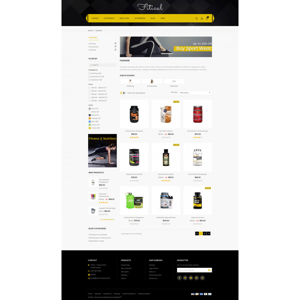 theme - Sports, Activities & Travel - Fitical - Fitness Store - 3