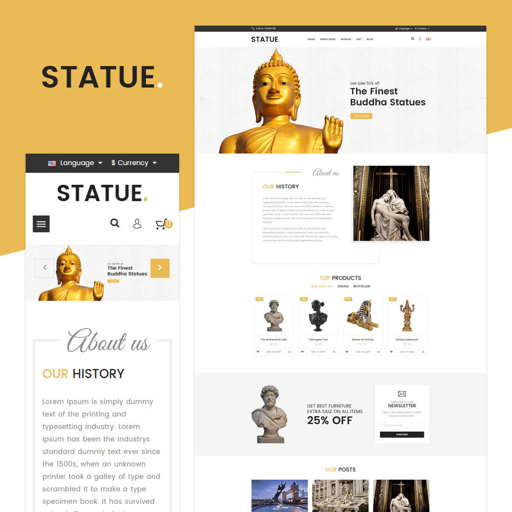 theme - Art & Culture - Statue - Responsive Store - 1