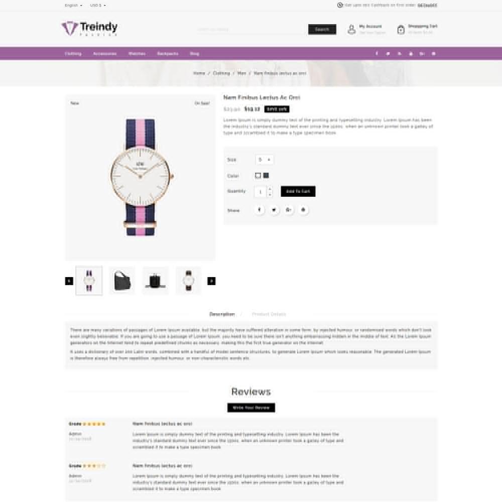 theme - Fashion & Shoes - Treindy Fashion Shop - 4
