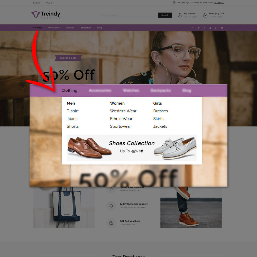 theme - Fashion & Shoes - Treindy Fashion Shop - 8