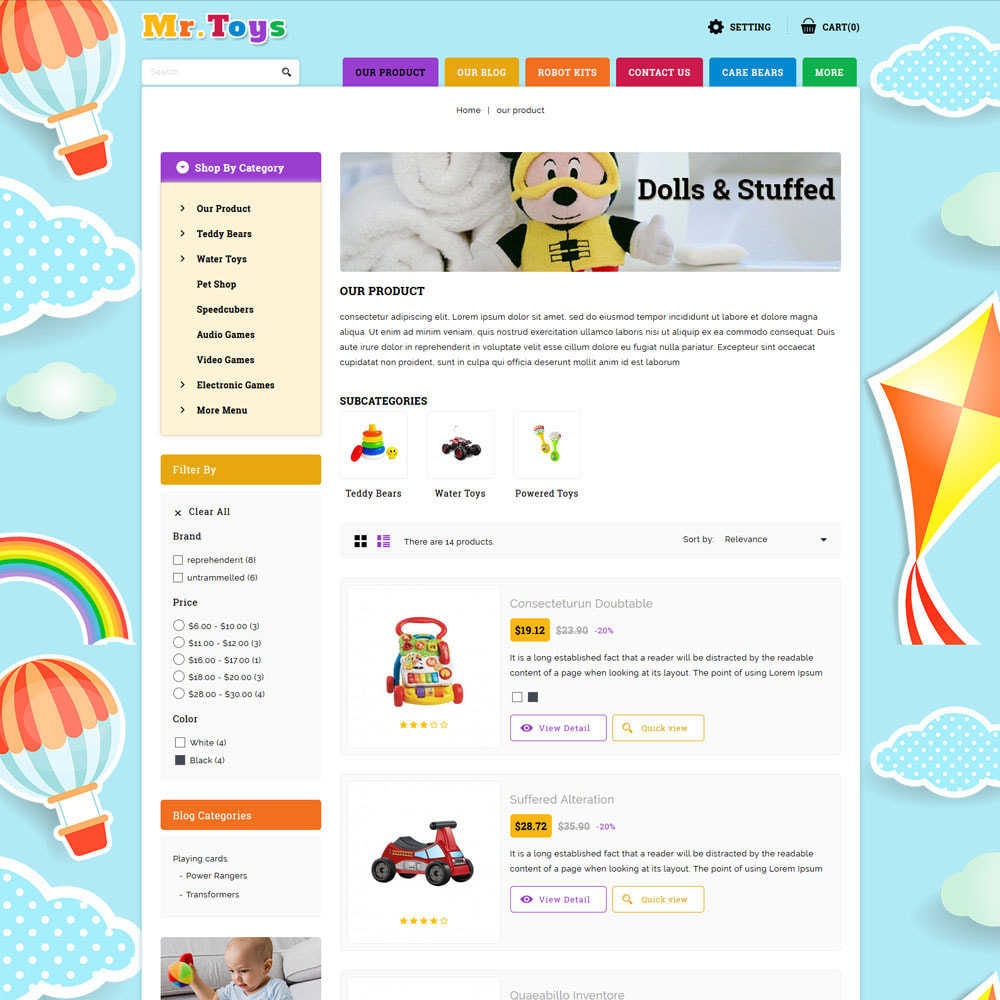 theme - Kids & Toys - Mr Toys - The Toy Shop - 5