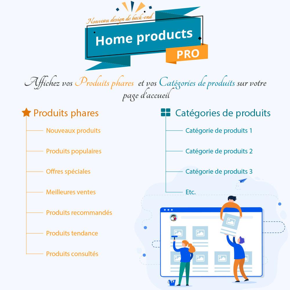 module - Produits en page d'accueil - Home Products PRO - Listes produit personnalisables - 1