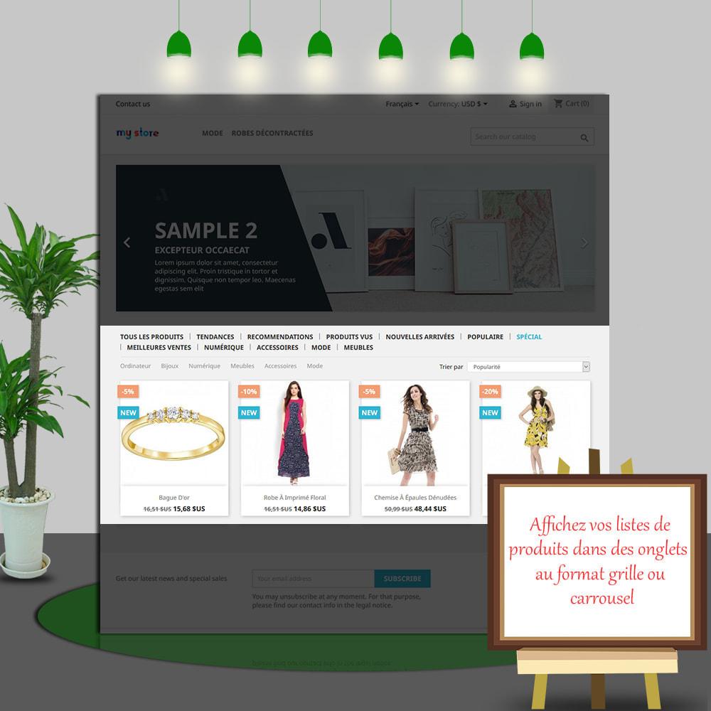 module - Produits en page d'accueil - Home Products PRO - Listes produit personnalisables - 5