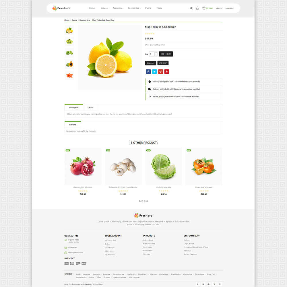 theme - Food & Restaurant - Freshero - The Best Organic Store - 5