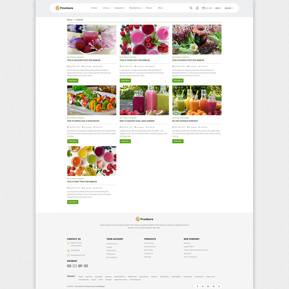 theme - Продовольствие и рестораны - Freshero - The Best Organic Store - 6