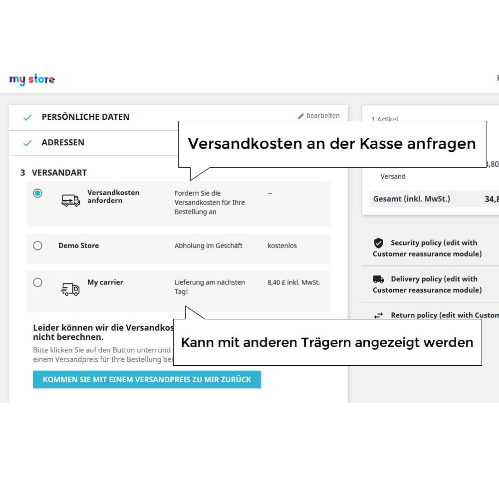 module - Versandkosten - Versandangebot - Kundenspezifische Versandrate - 3
