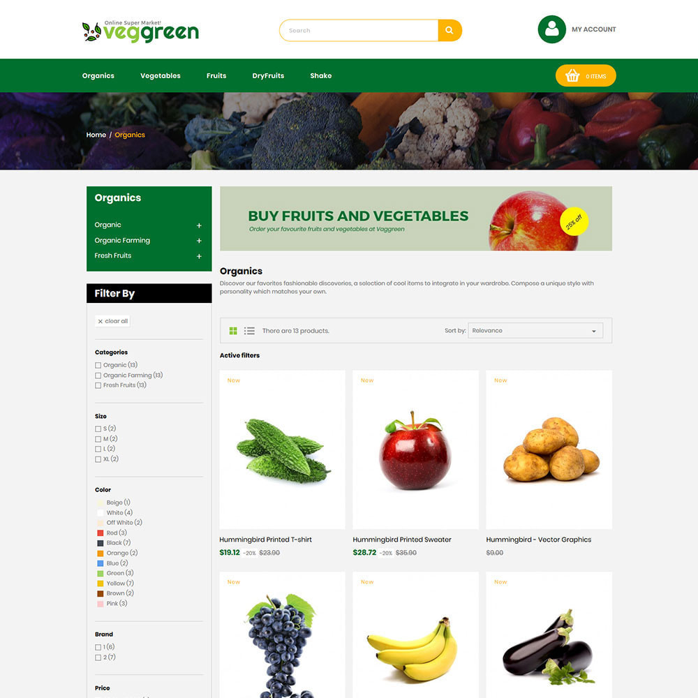 theme - Food & Restaurant - Veg Green - Food Vegitable  Fresh Store - 3