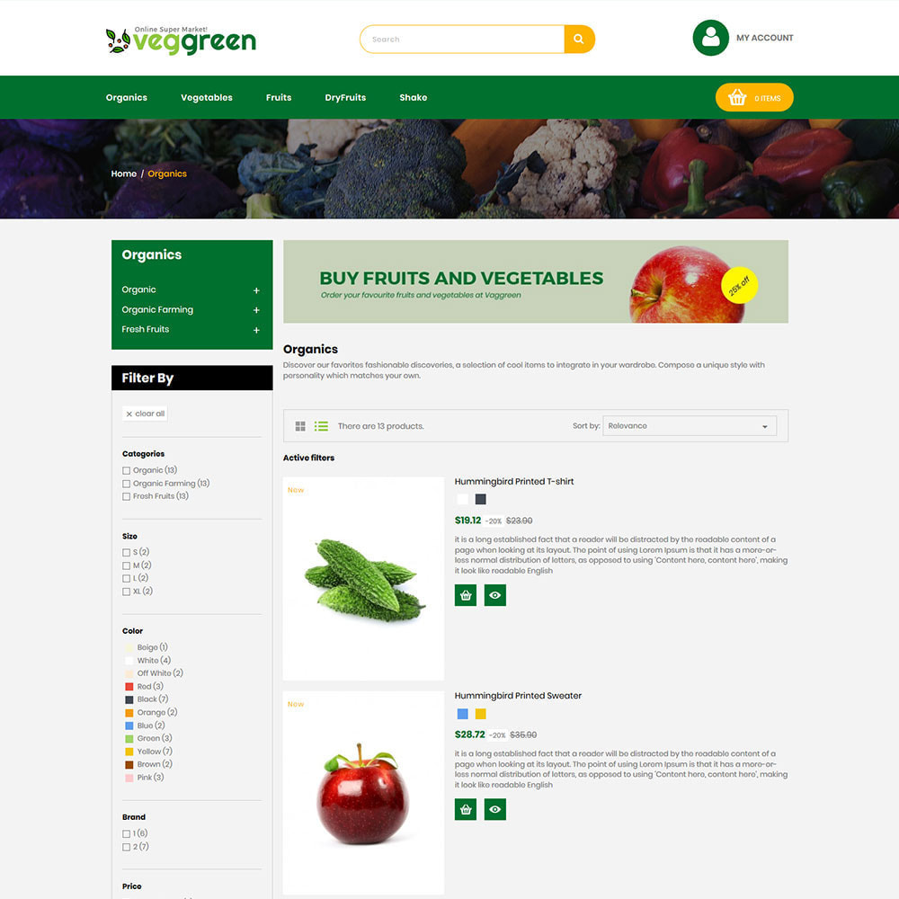 theme - Food & Restaurant - Veg Green - Food Vegitable  Fresh Store - 4
