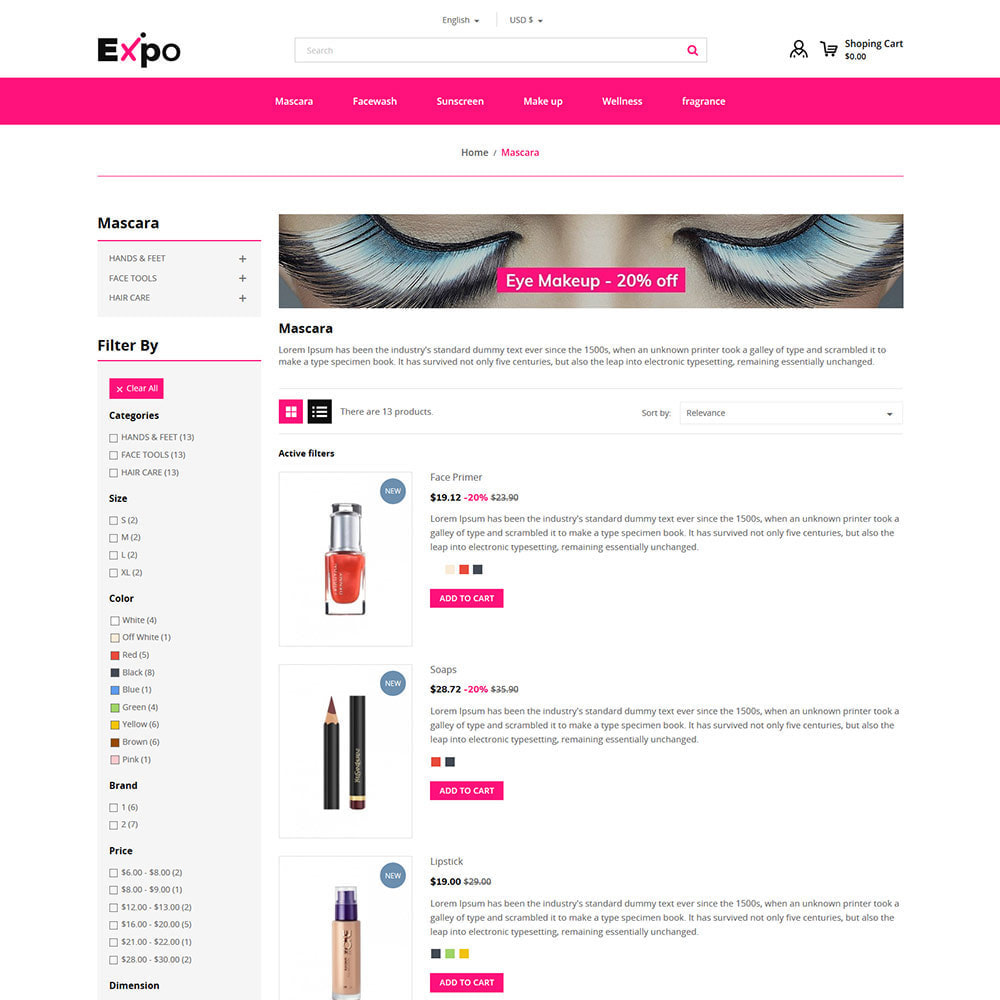 theme - Jewelry & Accessories - Makeup Cosmetics - Beauty Gym Store - 4