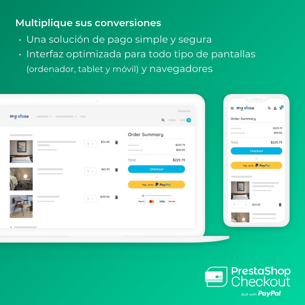 module - Pago con Tarjeta o Carteras digitales - PrestaShop Checkout 2.0 built with PayPal - 2