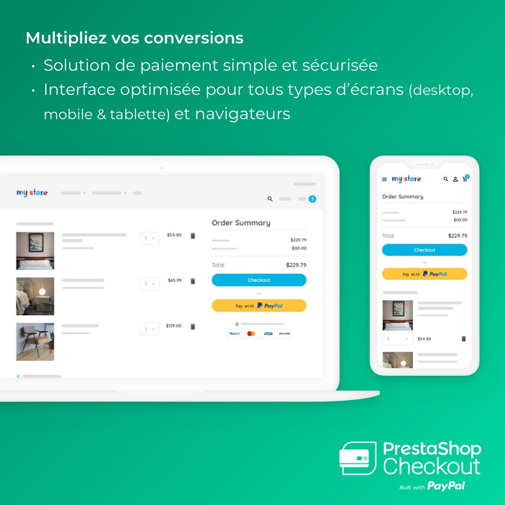 module - Paiement par Carte ou Wallet - PrestaShop Checkout built with PayPal - 1