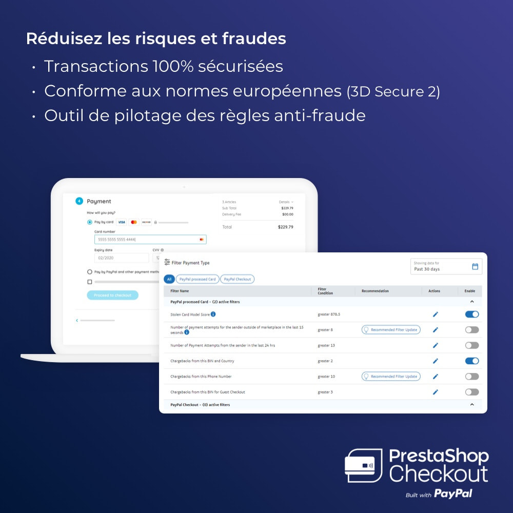 module - Paiement par Carte ou Wallet - PrestaShop Checkout built with PayPal - 3